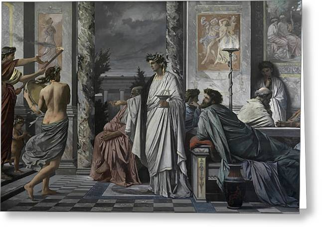 Plato's Symposium Greeting Card by Anselm Feuerbach