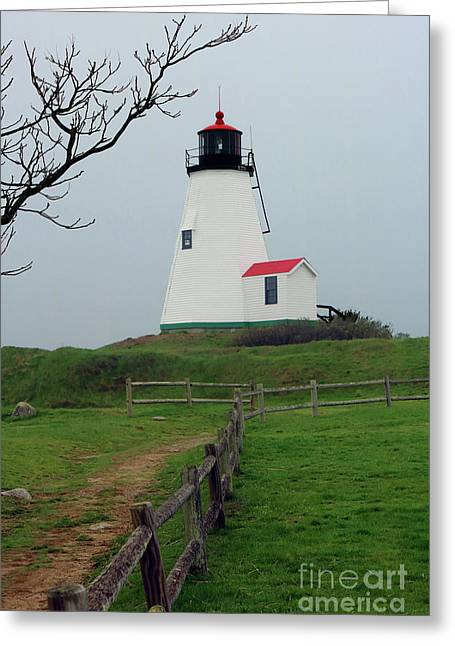 Plymouth Gurnet Lighthouse Greeting Card