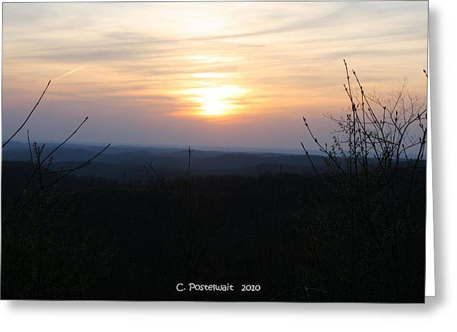 Point Mountain Sunset Greeting Card