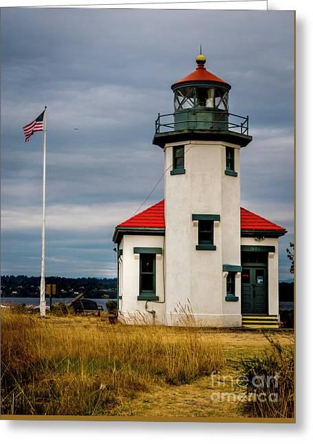 Point Robinson  Lighthouse,vashon Island.wa Greeting Card