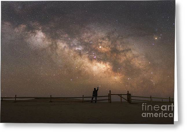 Look Towards The Sky Greeting Card by Michael Ver Sprill