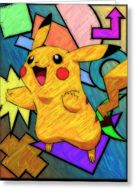 Pokemon - Pikachu Greeting Card by Kyle West