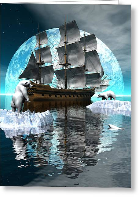 Polar Expedition Greeting Card by Claude McCoy