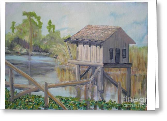 Pole House Greeting Card by Hal Newhouser