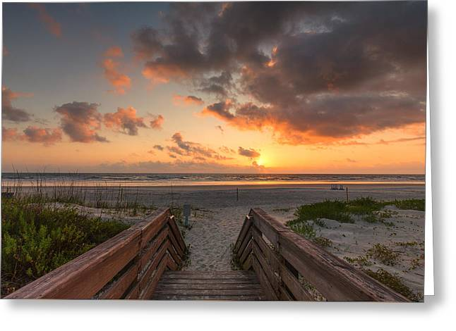 Ponce De Leon Inlet Beach Path Greeting Card