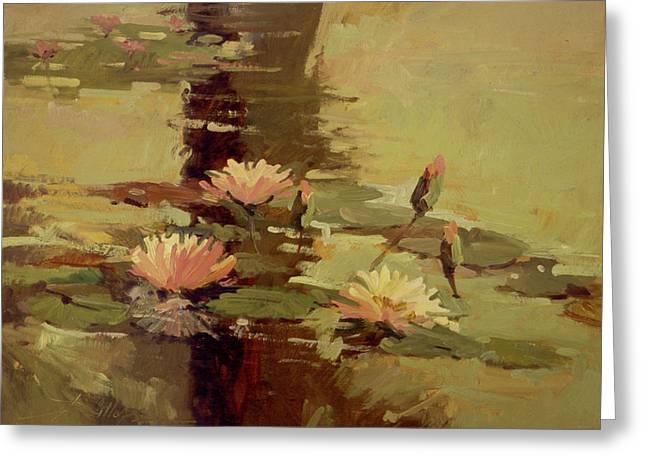 Pond Blossoms - Water Lilies Greeting Card