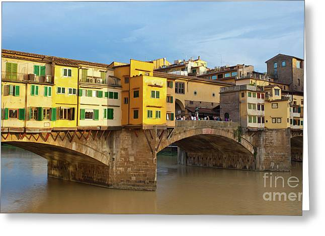 Ponte Vecchio At Sunset, Florence, Italy  Greeting Card