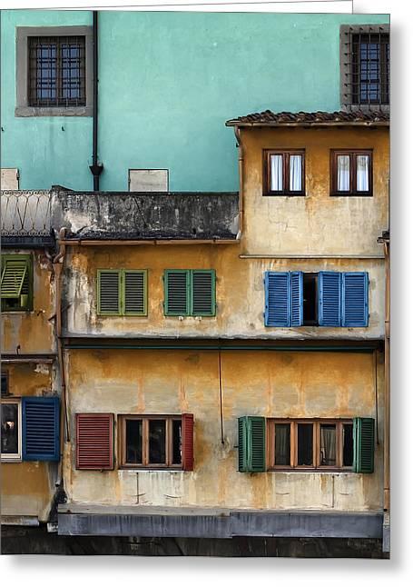 Ponte Veccio Greeting Card by Al Hurley