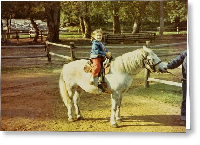 Pony Ride Greeting Card by JAMART Photography