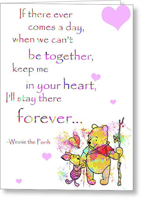 Winnie the pooh greeting cards page 6 of 7 fine art america pooh in your heart greeting card m4hsunfo