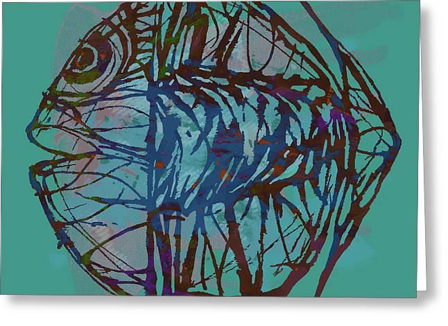 Pop Art - New Tropical Fish Poster Greeting Card
