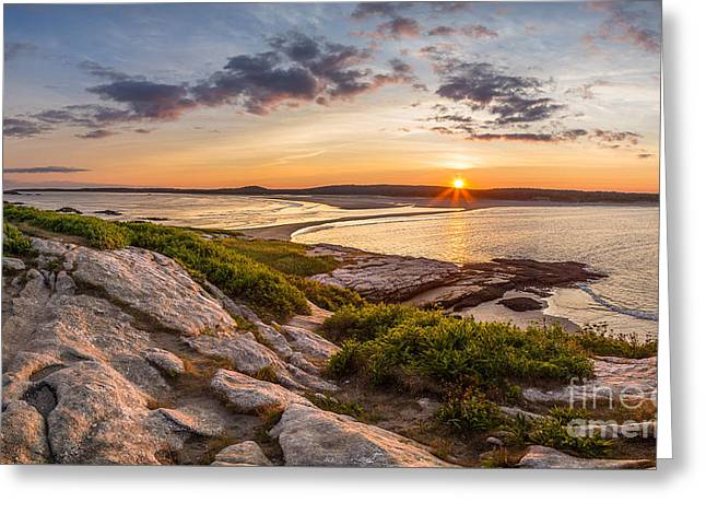 Popham Beach From Fox Island Greeting Card by Benjamin Williamson