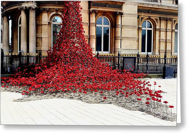 Poppies - City Of Culture 2017, Hull Greeting Card