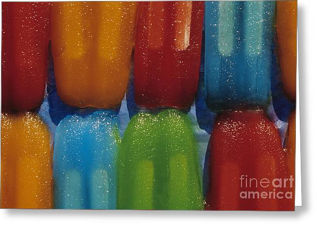 Popsicles Melting Greeting Card by Jim Corwin