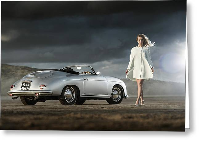 Porsche 356 Speedster With Model Greeting Card