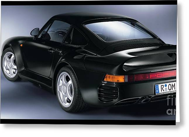 The Porsche 959 Greeting Card by Jon Neidert