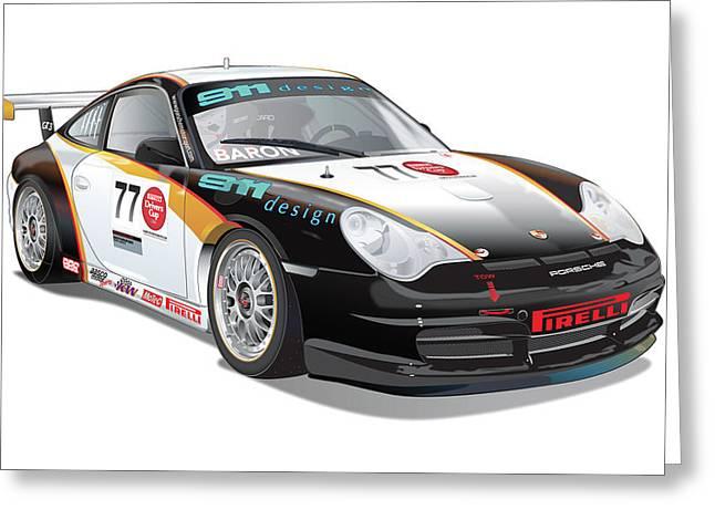 Porsche 996 Gt3 Cup Greeting Card