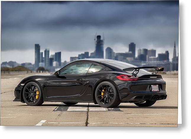 #porsche #cayman #gt4 Greeting Card