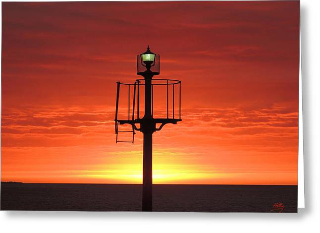 Port Hughes Lookout Greeting Card by Linda Hollis