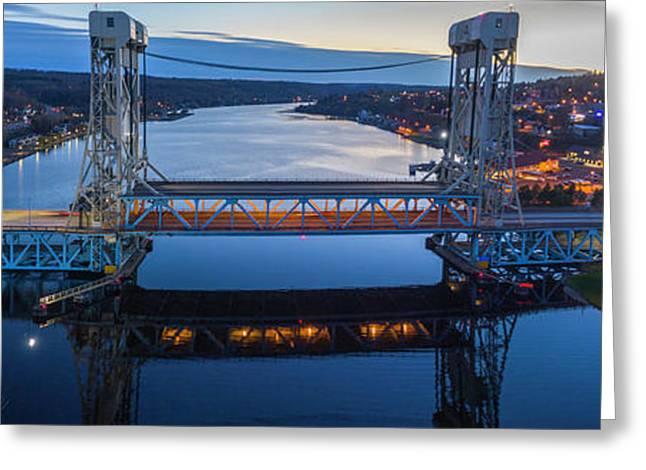 Portage Canal Lift Bridge 6 Greeting Card