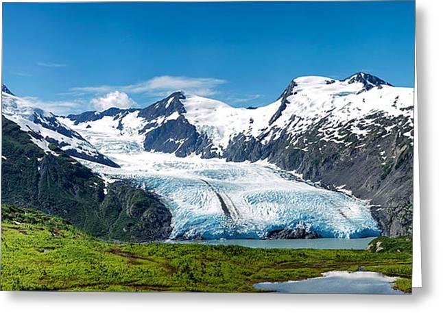 Portage Glacier Greeting Card by Ed Boudreau