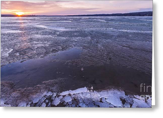 Portage Lake Sunrise Greeting Card