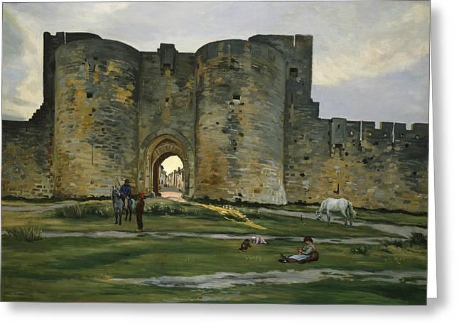 Porte De La Reine At Aigues-mortes Greeting Card
