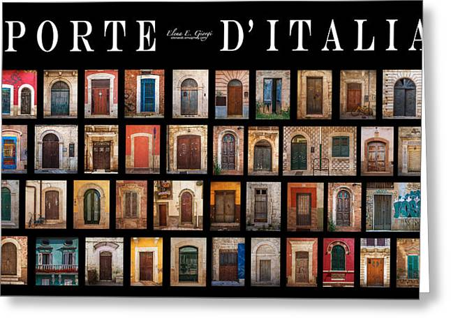Porte D'italia Greeting Card