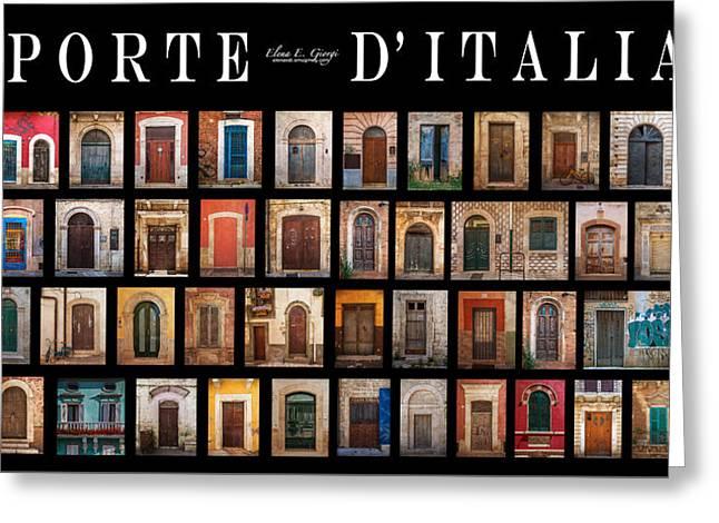 Porte D'italia Greeting Card by Elena E Giorgi