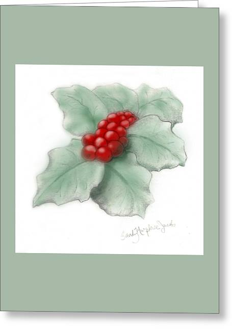 Portland Holly Greeting Card