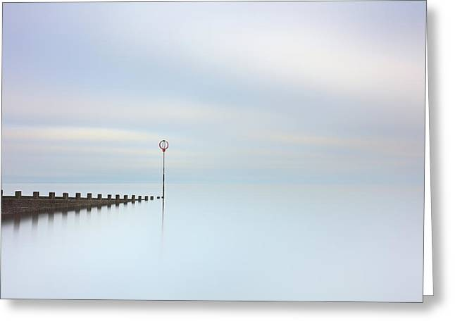Greeting Card featuring the photograph Portobello Seascape by Grant Glendinning