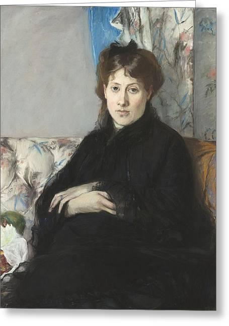 Portrait De Madame Edma Pontillon Greeting Card