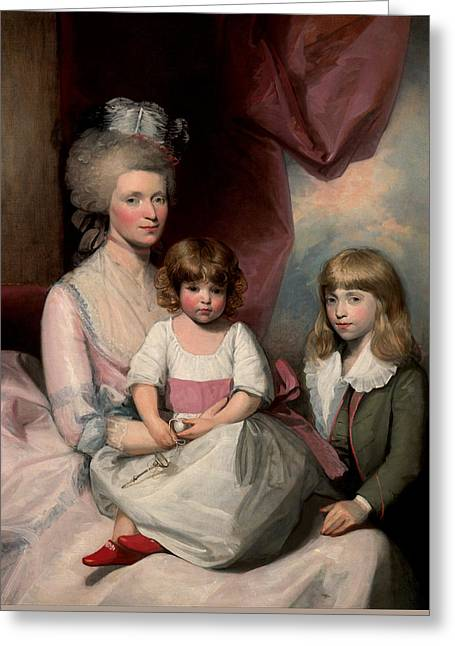 Portrait Of A Family Greeting Card by Gilbert Stuart