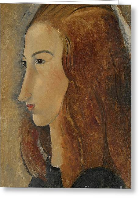 Portrait Of A Young Woman  Greeting Card by Amedeo Modigliani