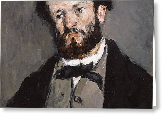 Portrait Of Anthony Valabreque Greeting Card by Paul Cezanne
