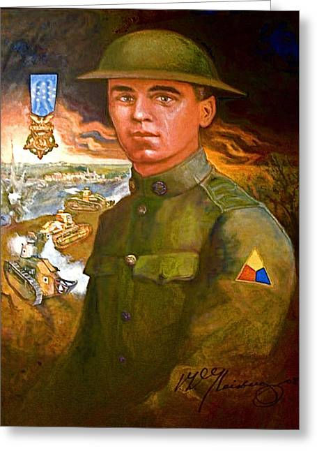 Portrait Of Corporal Roberts Greeting Card