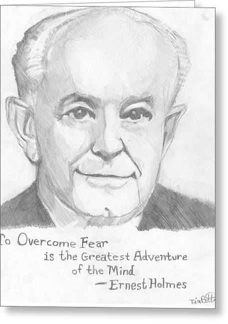 Portrait Of Ernest Holmes With Quotation Greeting Card