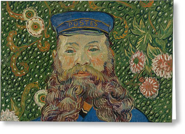 Portrait Of Joseph Roulin, 1889 Greeting Card by Vincent Van Gogh