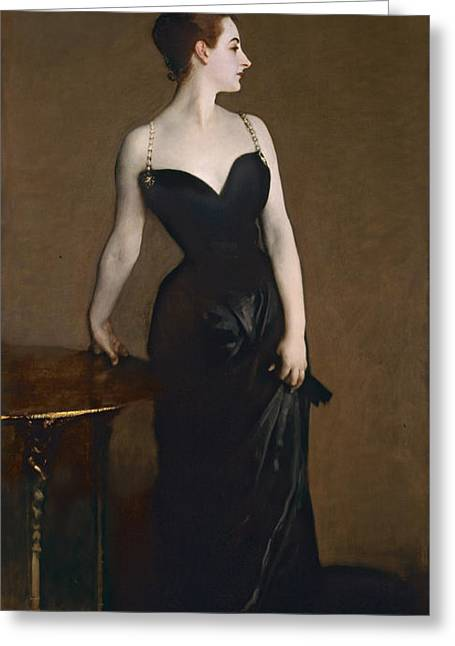 Portrait Of Madame Gautreau Greeting Card by John Singer Sargent