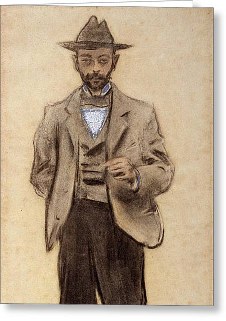Portrait Of Manolo Hugue Greeting Card