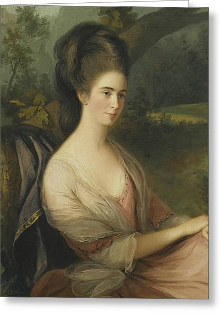 Portrait Of Miss Charlotte Dee Greeting Card by Thomas Hickey
