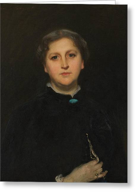 Portrait Of Mrs Raphael Pumpelly Greeting Card by John Singer Sargent