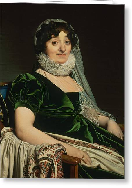 Portrait Of The Countess Of Tournon Greeting Card by Jean-Auguste-Dominique Ingres