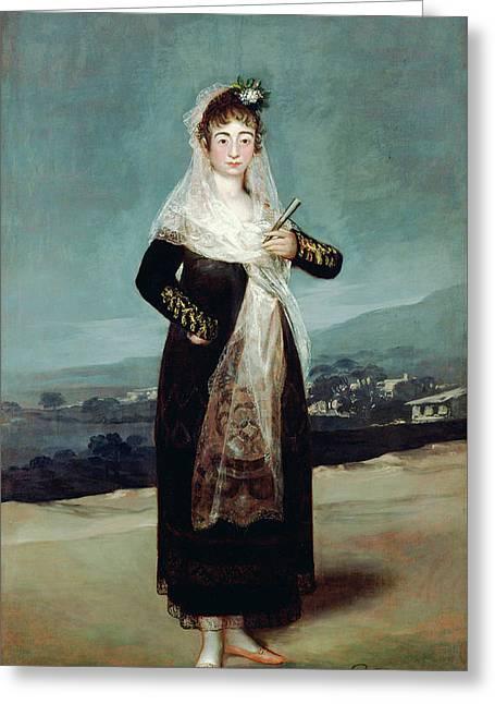 Portrait Of The Marquesa De Santiago Greeting Card