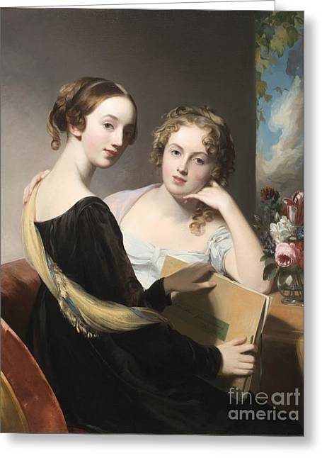 Portrait Of The Misses Mary And Emily Mceuen Greeting Card by MotionAge Designs