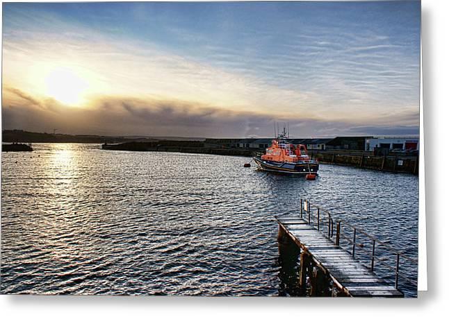 Portrush Rnli Lifeboat Greeting Card
