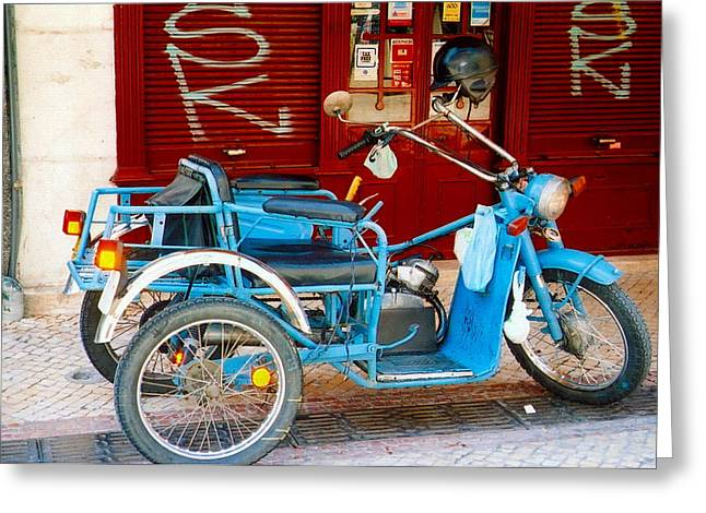 Portuguese Wheels Greeting Card by Andrea Simon