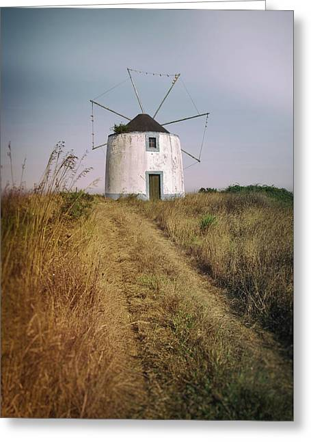 Greeting Card featuring the photograph Portuguese Windmill by Carlos Caetano