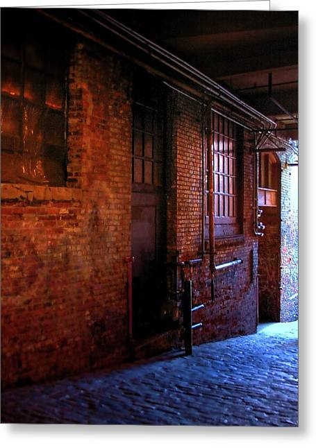 Washington Post Greeting Cards - Post Alley East Wall Greeting Card by David Patterson