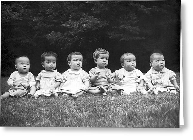 Post-war Japanese Orphanage Greeting Card by Underwood Archives